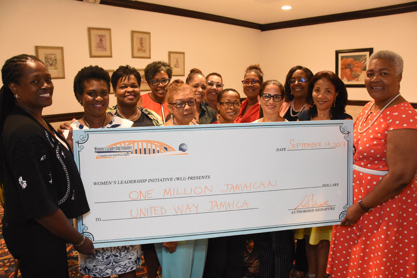 WLI Gives J$1M to United Way of Jamaica